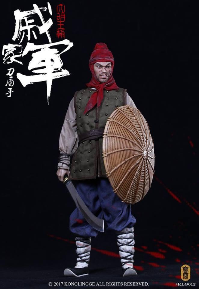 1/6 Kong Ling Ge KLG012 Ming Dynasty Series Qi's Army Shieldman 戚家軍刀盾手 Figure
