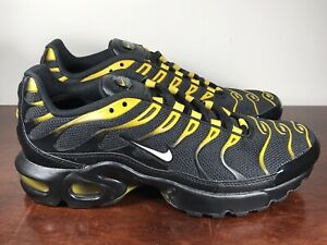 Details about Nike Air Max Plus TN Tuned GS BlkYellowWhteVivid Sulfur 655020 057 Size 6Y