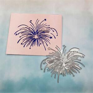 Stanzschablone-Feuerwerk-Blume-Weihnachten-Hochzeit-Geburtstag-Oster-Karte-Album