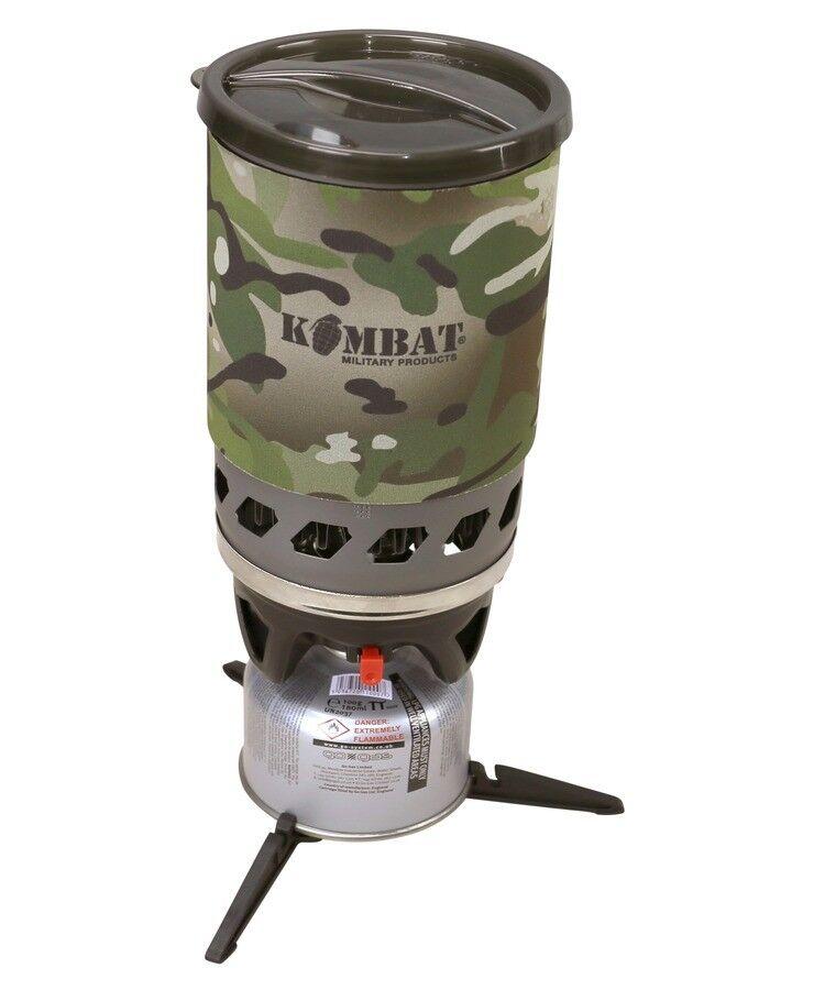 Kombat ciclón ebullición rápida sistema de cocción y el viento la prueba Estufa Con Adaptador De Olla