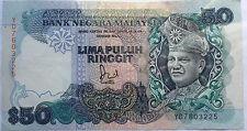 RM50 Jaffar Hussein sign Note YD 7603225