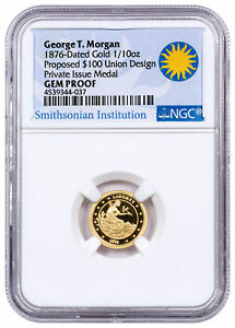 2017 Us Smithsonian Morgan 100 Union 1 10 Oz Gold Medal
