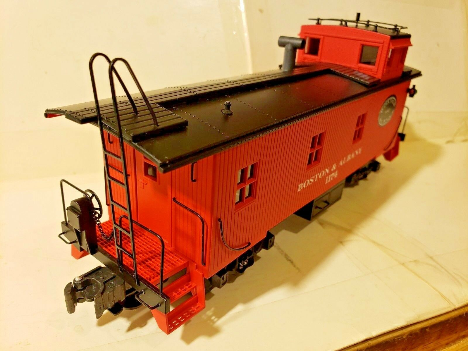 K-Kine Wood-Sided Caboose Boston & Albany 0 & 027 Scale K616-3181 1174