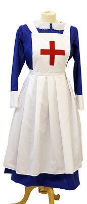 VICTORIAN/HISTORICAL/1940'S/WARTIME Blue Matron/Nurse Uniform sizes 8- PLUS