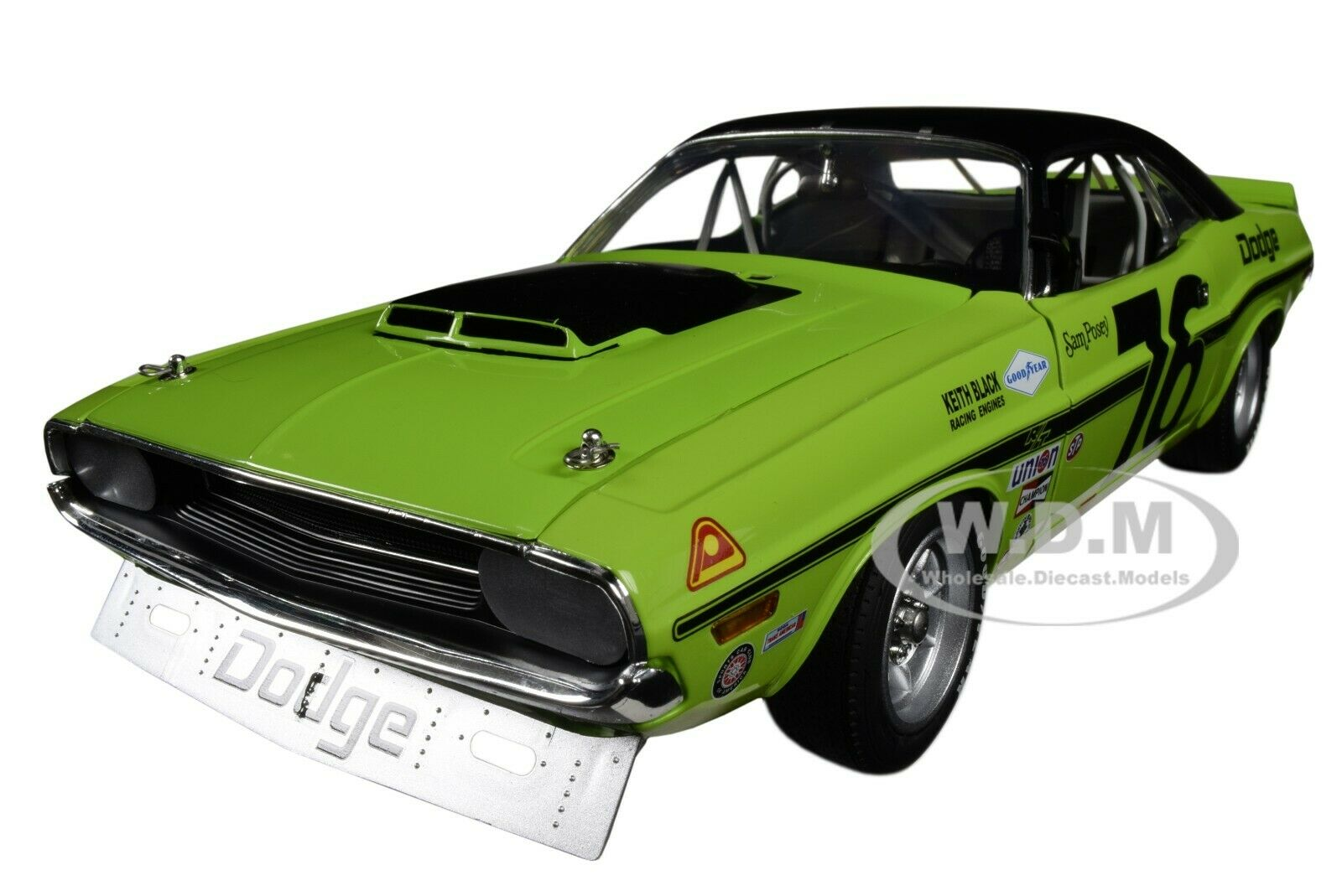 1970 DODGE CHALLENGER T A SAM POSEY LTD ED 1 18 DIECAST CAR BY ACME A1806009