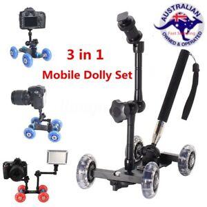 Table-Camera-Video-Wheels-Rail-Rolling-Track-Slider-Mobile-Dolly-Car-Glide-AL