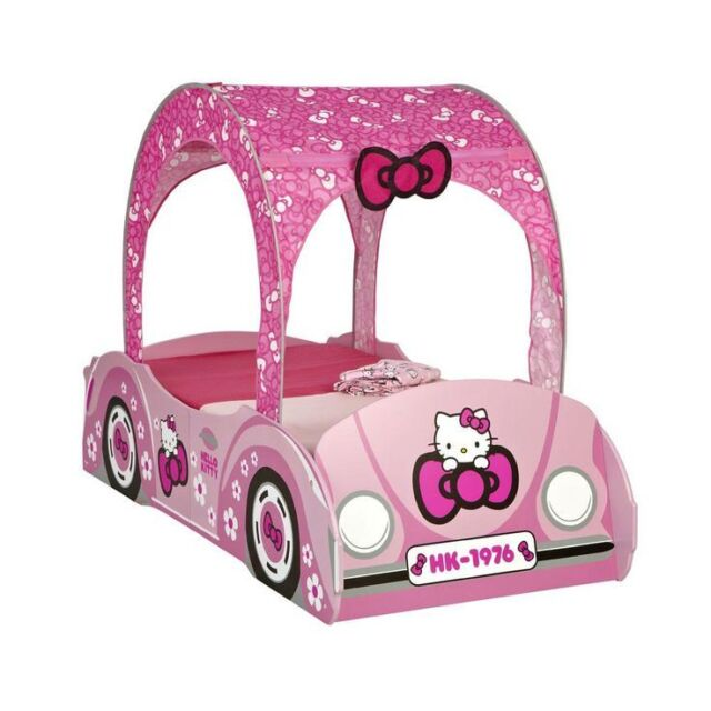 size 40 0b8c2 e8088 HELLO KITTY FEATURE TODDLER PINK CAR BED