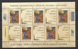 2009 - Foglietto Lingua Italiana