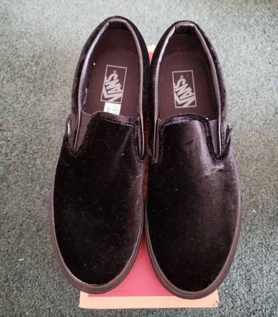 d15114dfd02d VANS Black Velvet Classic Slip on Sneaker Shoe Womens 10 for sale ...