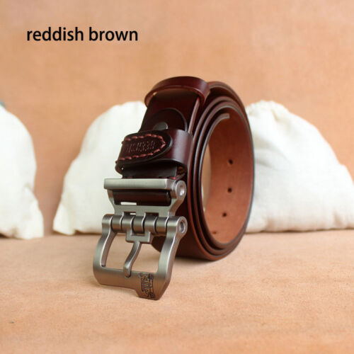 Classic Durable Belt For Men Genuine Pin Buckle Casual Business Wear Accessories