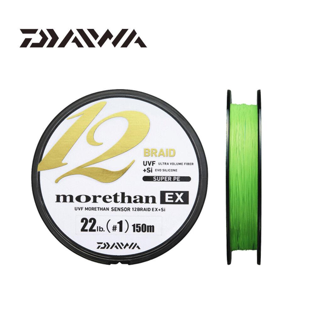 Daiwa morethan EX 12 Braid Line 150M Lime Green PE  Braided Fishing Line  A1  quality product