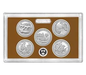 2017 America the Beautiful Quarters Proof Set No Box or COA S Mint Mark Clad