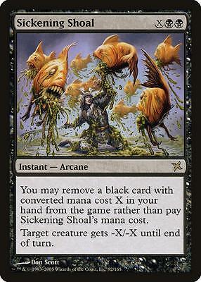 Sickening Shoal MTG EX-NM card Magic Betrayers of Kamigawa BOK English EN USA
