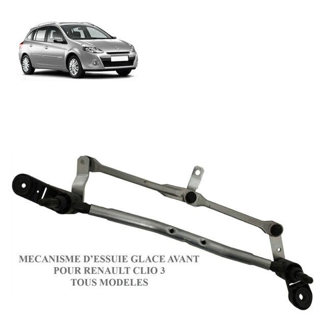Moteur d'essuie glace avant pour Renault Clio 3 mécanisme tringlerie 8200268931