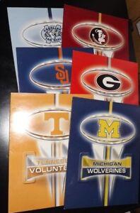 Details about College Logo 2 Pocket Folders Sports Teams, High School  Supplies Binder 6p NEW