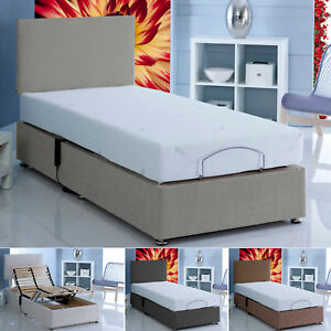 3ft Single Electric Adjustable Chenille Beds Memory Foam