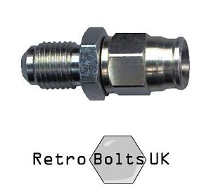 "Cortina Mk1 Escort 3 AN Male Bulkhead Brake Fitting Straight 3//8/"" UNF"