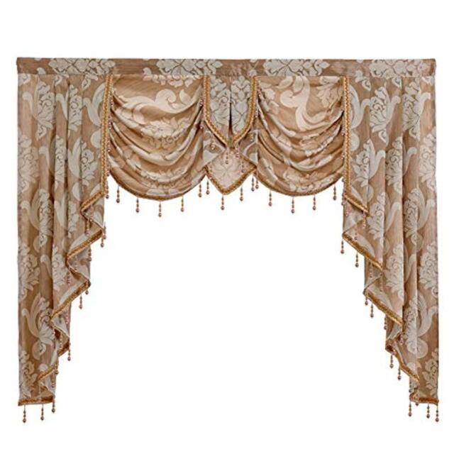 Napearl European Style Luxury Waterfall, Valances For Living Room