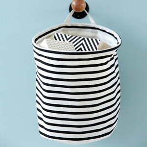 House-Doctor-Storage-Basket-Stripes-Bathroom-Playroom-Decor-Living-Room