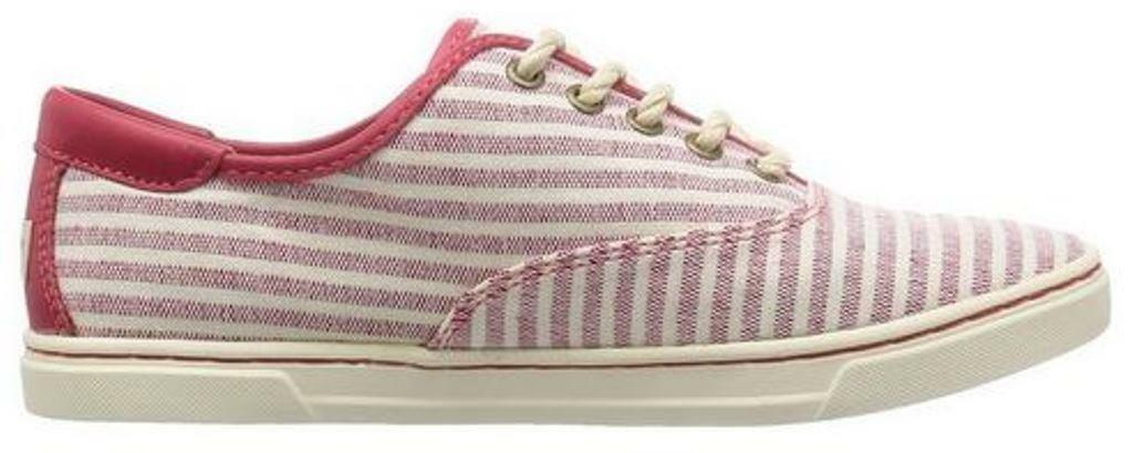 Women's Shoes Ugg EYAN II Fashion Sneakers Lace Up  Striped Canvas RED
