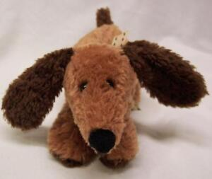 """Carter's CUTE SOFT BROWN PUPPY DOG RATTLE 6"""" BABY Plush STUFFED ANIMAL Toy"""