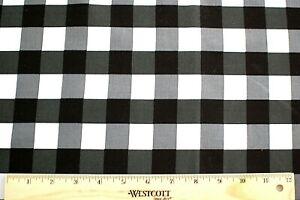 Black and Gray buffalo check woven 3.5 yds