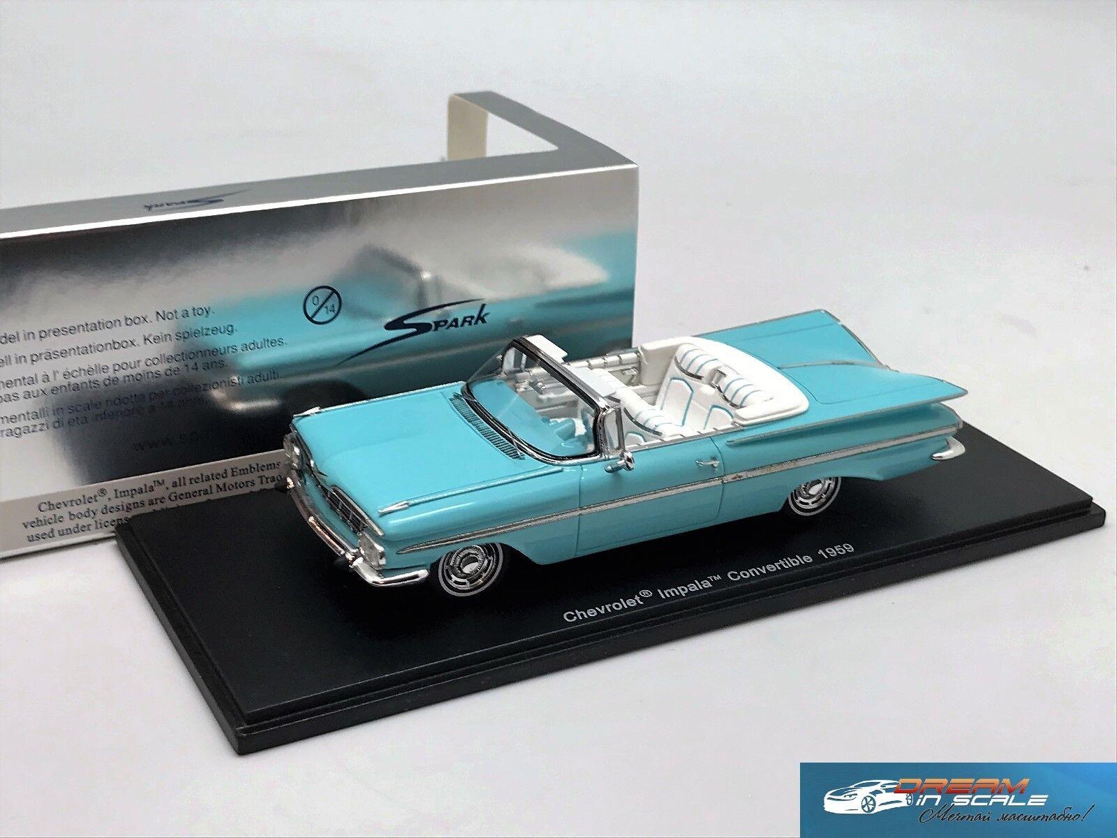 Chevrolet Impala Convertible 1959 bleu Spark S2901  1 43  2018 magasin