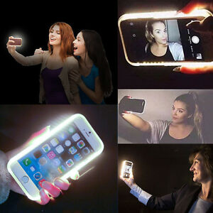 LED Light Up Selfie Bright phone Case shell Cover For APPLE iPhone 6s 6 Plus 7