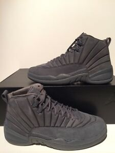 70f1ac669f8d6 Details about New Air Jordan XII 12 Retro PSNY Public School NY Dark Grey  Size 10 130690 003