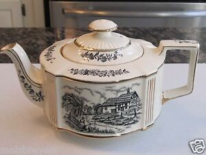 Vintage-Sadler-Riverside-Teapot-Traditional-Oval-FREE-SHIPPING