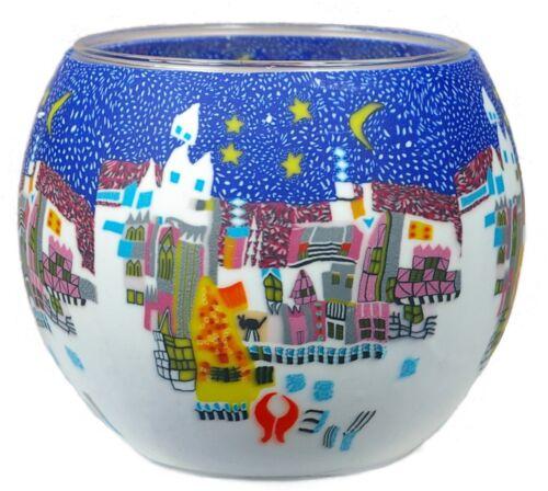 Windlicht CC252 Wintermärchen 11 x 9 x 11 cm Cup Teelichthalter Leuchtglas
