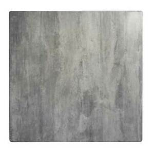 Dining Table Top Square Outdoor 700mm Commercial Cafe Bar Anti Scratch Cement