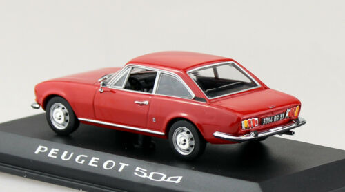 Peugeot 504 Coupe 1969 rot 1:43 Norev Modellauto 475416