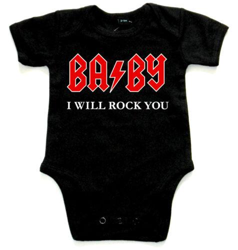 Baby I will rock you Black Baby Body