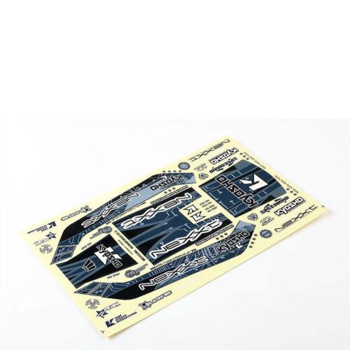 Dekorbogen NeXXt schwarz silber EZ Serie Ersatzteil Kyosho EZD001BS # 702485