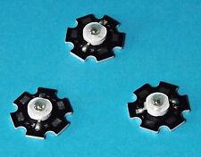 3 X 3W 850nm IR POWER  LED on HEATSINK Kühlkörper Emitter Infrarot Infrared 5mm