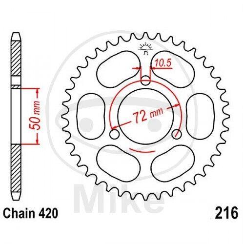 JT Kettenrad 36 Zähne Teilung 420 schwarz JTR216.36