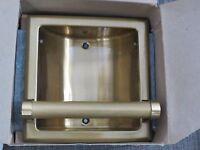 Hall Mack American Classics Brass Recessed Soap & Grab Bar Vintage 60's /w9