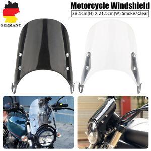 Universal-Fuer-5-039-039-7-039-039-Motorrad-Scheinwerfer-Windschutzscheibe-Windschild-Abweiser