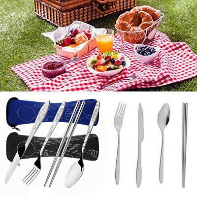 Angeln 4x Edelstahl Löffel Gabel Messer Besteck für Camping Küche