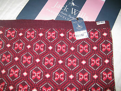 Other Women's Clothing Knowledgeable Jack Wills Ladies Snood Fairisle Quality Lambswool Mix Plum Scarf Rrp£39.50 Clothes, Shoes & Accessories
