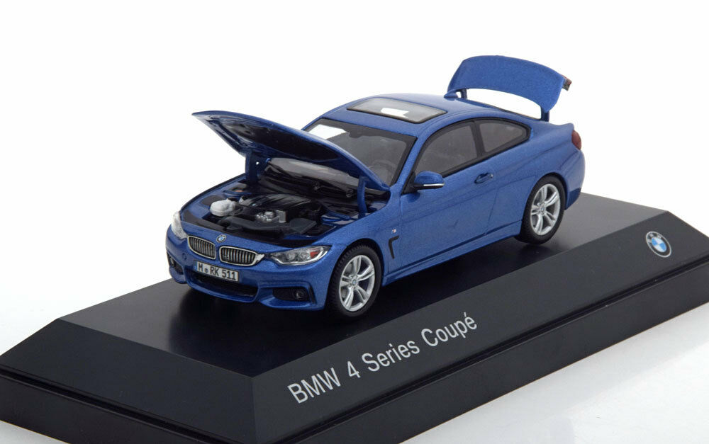 BMW 4ER 3.8I SERIES COUPE F32 2013 blueE METAL I-SCALE 80422318858 1 43 blue