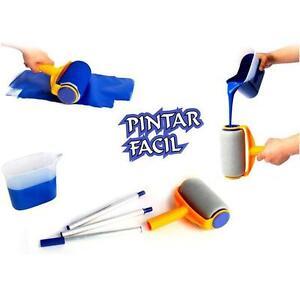 Rodillo-de-Pintura-5-un-Set-Pro-cepillo-conjunto-kit-de-herramienta-de-pintura-de-pared-asa-de-borde