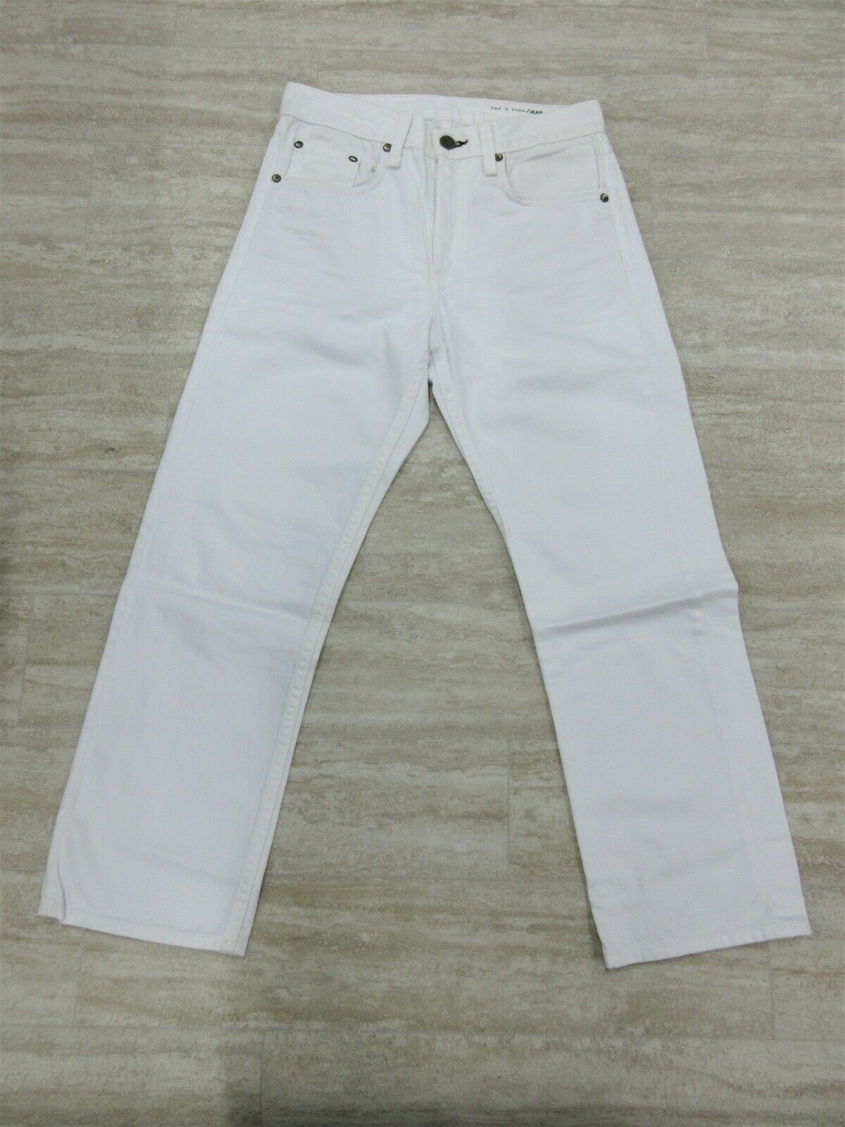 New Rag & Bone   Jeans Marilyn Crop Jean color  White Nolita Size  25 -D