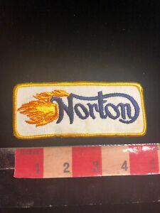 Vintage-Biker-Flames-British-NORTON-MOTORCYCLE-Twill-Advertising-Patch-00SF