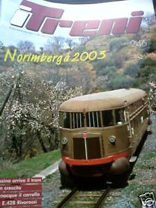 I Treni 246 2003 Poster Locomotiva E 428 con prove Riva