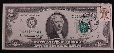"1976 /""Atlanta*Star Note* $2 Fed Reserve Note in Sequential order!/""Crisp Gem New/"""