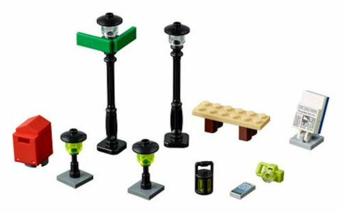 Polybags Street Lamps 34 pcs Lights NEW Lego Xtra City Town Accessories 40312