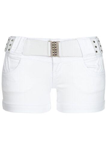37/% OFF B18031193 Damen 77 Lifestyle Shorts Jeans 4-Pockets OHNE Gürtel weiß
