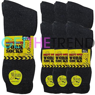Mens Work Socks Heavy Duty Reinforced Heel Toe